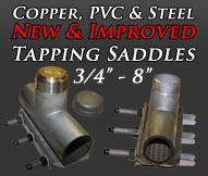 Copper PVC Steel Tapping Saddles